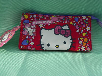 HELLO KITTY TROUSSE rouge Kitty décor fruits