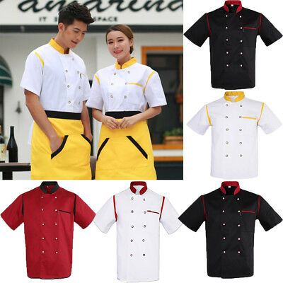 Unisex Cook Apparel Chef Jacket Short Sleeve Mesh Professional Hotel Uniform