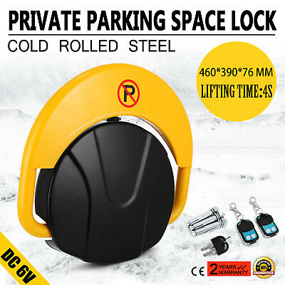 Private Parking Space Lock With Remote Control Yellow Waterproof 4S Lift Time