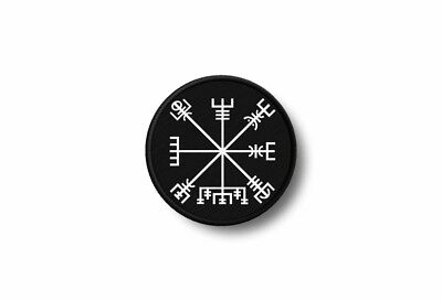 Patch badge embroidered border printed morale iron biker compass vegvisir rune