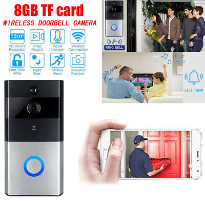 Smart Doorbell Kits Motion Detected HD Video 2-Way Talk Camera -8G-UK Stock