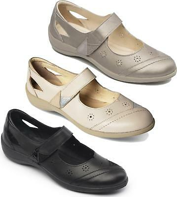 eb2415bb Padders RAINBOW Ladies Womens Leather Wide (E Fit) Mary Jane Casual Comfy  Shoes
