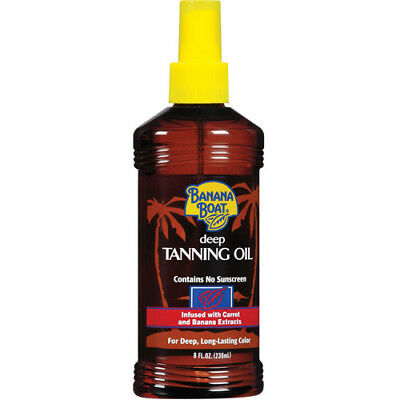 Banana Boat Deep Tanning Oil Spray Contains No Sunscreen Brand New