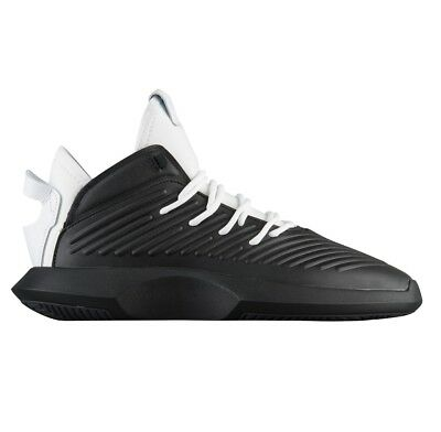detailed look 2f536 ba130 Adidas Crazy 1 ADV Mens AQ0321 Black White Leather Basketball Shoes Size 7.5