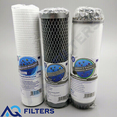 """Premium 3 Stage HMA Heavy Metal Reduction Water Filter System 10"""" Replacements"""