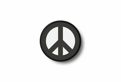Patch toppe toppa ricamo termoadesiva stampado biker peace and love nero