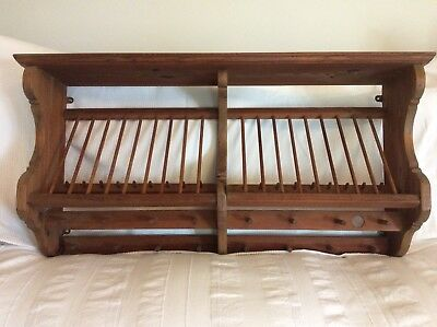 Vintage Large Pine Plate Rack By Penny Pine Of Somerset & VINTAGE LARGE PINE Plate Rack By Penny Pine Of Somerset - £95.00 ...