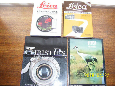Leica Books Bundle, Leica Lens Practice, Leica The First Fifty Years  + 2 Others