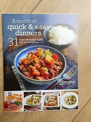 Slimming World A Month Of Quick & Easy Dinners 31 Recipe Booklet Ex Condition