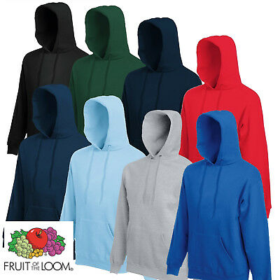 Fruit of the Loom Classic Hoodie Hooded Sweatshirt Adults New  S M  L XL 2XL New