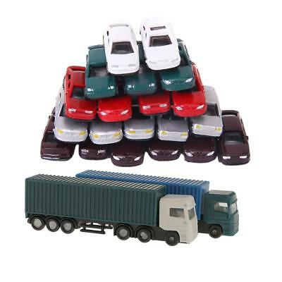 52pcs Model Container Truck Figure 1:150 N Scale Building Scenery Layout DIY