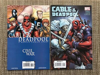 Cable and Deadpool Marvel Comic Lot #'s 30 & 36 (Taskmaster)