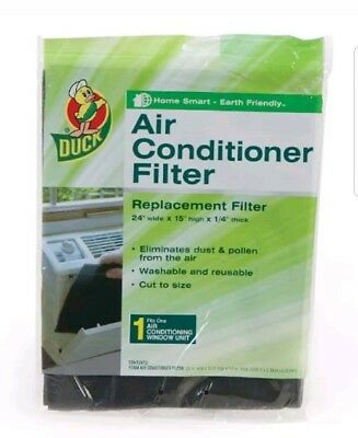 Duck Replacement Air Conditioner Foam Filter 24-inch by 15-inch by 1/4-inch...