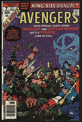 Avengers Annual #7 Thanos, Capt Marvel With Jim Starlin Art Nm- 9.2 White Pages