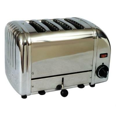 Cadco - CTS-4 - Mica 4 Slot Stainless Steel Heavy Duty Toaster