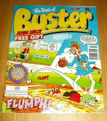 Buster  Monthly  With Flying Saucer  Free Gift Attached  July 1993