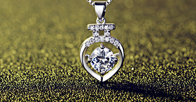 Zircon Heart Pendant 925 Sterling Silver Chain Necklace Womens Jewellery Gift UK