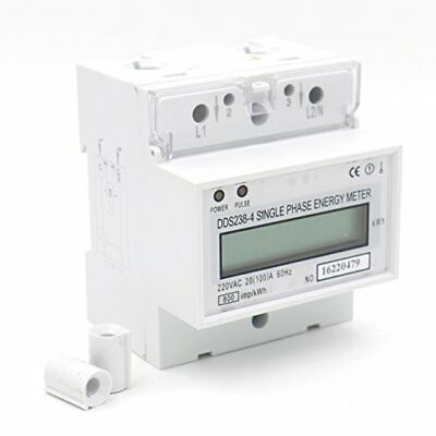 single phase din-rail type kilowatt hour kwh meter 220v 60hz 20 100a
