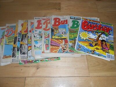 JOB LOT 18 Buster comics from 1980s UK comic collection