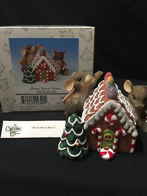 "Charming Tails ""Home Sweet Home"" Fitz and Floyd 887/106  gingerbread house"