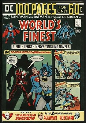 World's Finest #223 Stunning Nm 9.4 White Pages Cents Copy1 Neal Adams Art