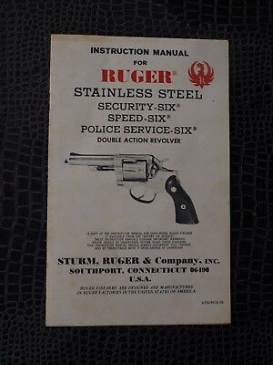 ruger instruction manual for double action revolvers police speed rh picclick com Ruger P89 Ruger P85