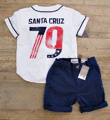 100% Next Boys Summer Spring Bundle Outfit Shorts Shirt Top Age 2-3 Y New
