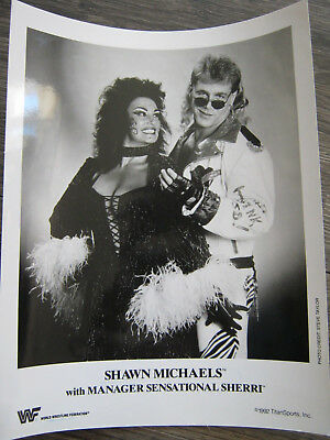 Shawn Michaels Sensational Sherri WWE Original Promo Photo 8x10 WWF no Autograph