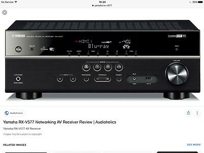 YAMAHA RX-577 black 7.1 channel receiver