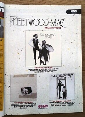 FLEETWOOD MAC 'Rumours + 2'  2004  magazine ADVERT/Poster/clipping 11x8 inches
