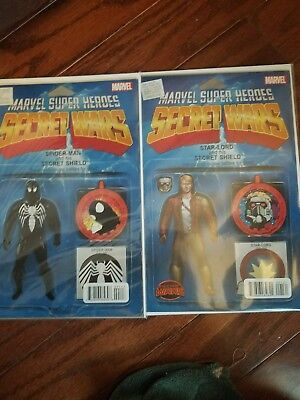 Marvel Super Heroes Secret Wars #001 (2014) Spider-Man Action Figure Variant NM