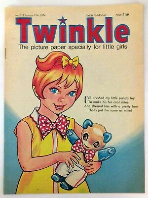 Twinkle Girls Comic 1974 Issue 312