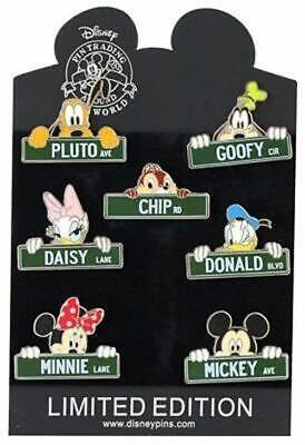 "Walt Disney World Park Trading Pin ""Street Signs"" Set  - 7 Total LE Pins - NEW"