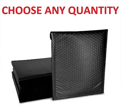Black Any Size Poly Bubble Mailers Shipping Mailing Padded Bags Envelopes