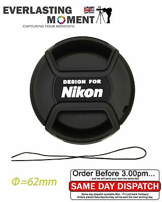 LC-62 Centre Pinch lens cap for Nikon Lenses fit 62mm filter thread