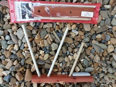 CERAMIC SHARPENING RODS with an Arkansas stone