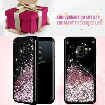 Bling Flowing Liquid Sparkle Glitter TPU Bumper Case Cover for Galaxy S9/S9 Plus