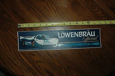 RARE PORSCHE LOWENBRU RACING Bumper Sticker LARGE