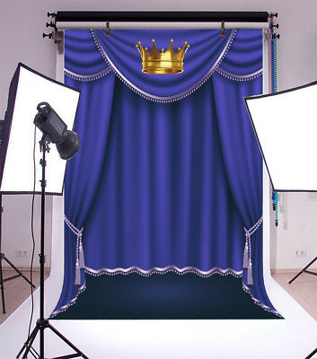 Vinyl Crown Blue Screen Photography Backdrop Background Studio Photo Props 5x7FT