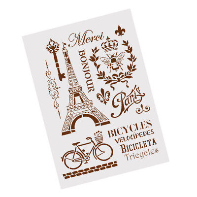 towerbicycle layering stencils forwall painting scrapbooking stampalbum`decor WO