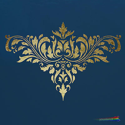 Damask #1 Stencil :  For Walls, Furniture and Art:  ST12