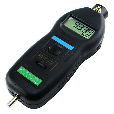 2in1 Contact & Non-contact Laser Tachometer ft m/min Auto Ranging 0.5~99,999RPM