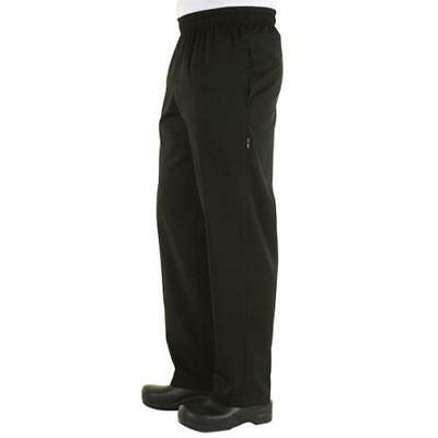 Chef Works Zip-Fly Baggy Chef Pants - Black - All Sizes