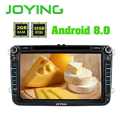"""Latest Android 8.0 Double Din Octa Core 8"""" Car CD Radio Stereo for VW/Seat/Skoda"""