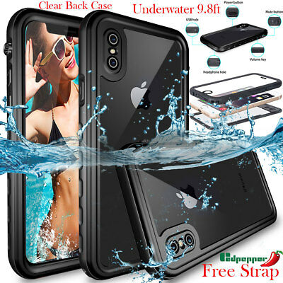 Waterproof Shockproof Heavy Duty Tough Hard Case Cover F Apple iPhone 7 8 Plus X