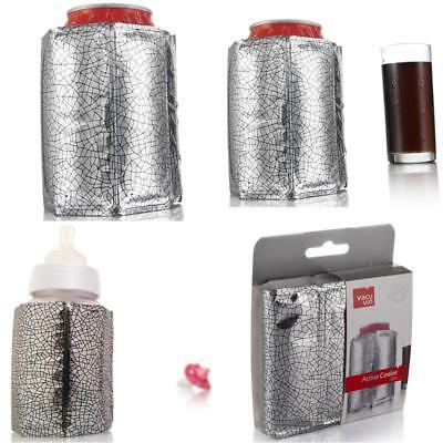 New Water Bottle Jug Vacu Vin Rapid Ice Can Cooler Silver Active Chiller With UK