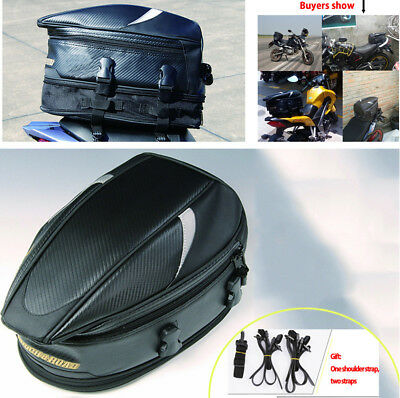 1X Motorcycle Scooter Rear Back Seat Bag Great Capacity Waterproof Oxford Cloth