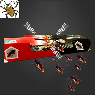 10xCockroach Trap Bait Sticky Traps Glue Cockroaches Insect Bug Pest Control