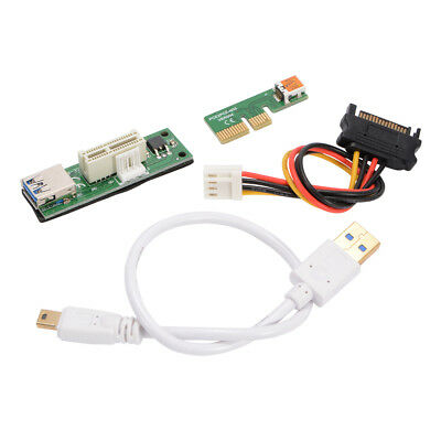 Mini PCI-E X1 Extension Cable PCI-E Expansion Card 90° Need to be Powered AC1291