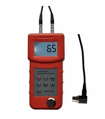 H● UM6700 Ultrasonic Thickness Gauge Tester Meter 1.0-300mm/0.05-11.8in(Steel)